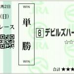 【予想】2015年3月29日中山8Rデビルズハーツ