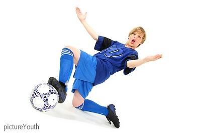 子供がサッカー