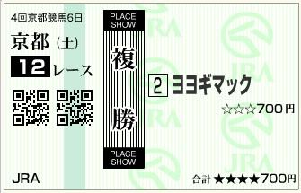 20151024京都12Rヨヨギマック複勝