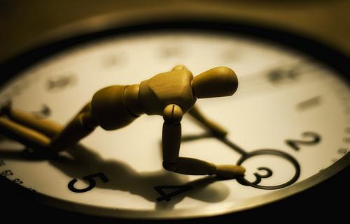 時間時計落ち込む