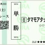 【予想】2016年3月5日阪神7Rタマモアタック