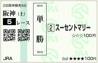 20160409阪神5Rスーセントマリー