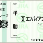 【予想】2017年6月4日阪神7Rエンパイアブルー