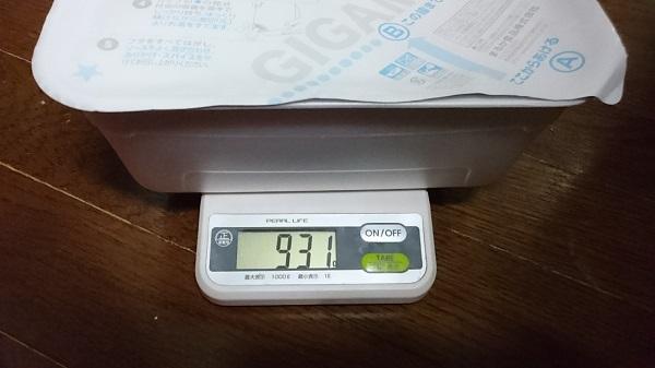 ペヤング超超超大盛重さ測定